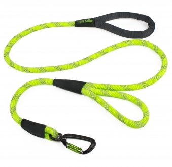 Dual Handle Rope Leash (Green)