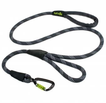 Dual Handle Rope Leash (Gray)